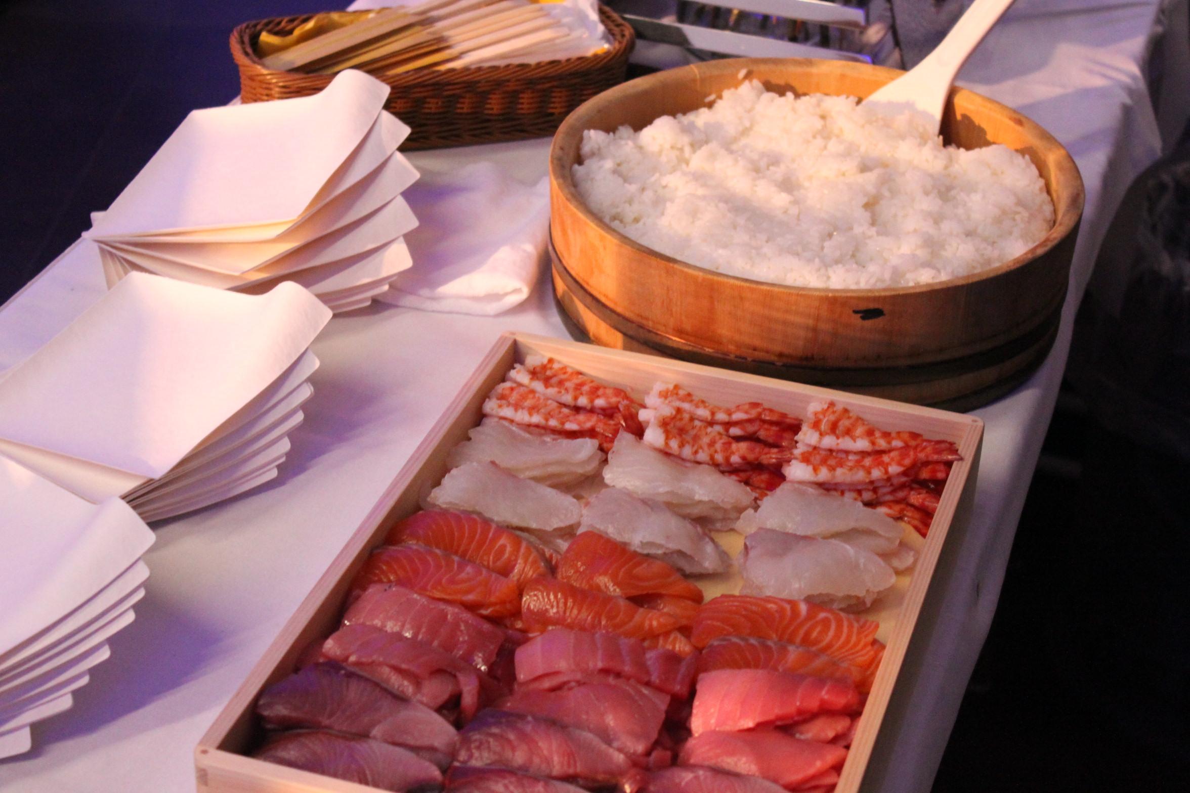 職人による出張握り寿司