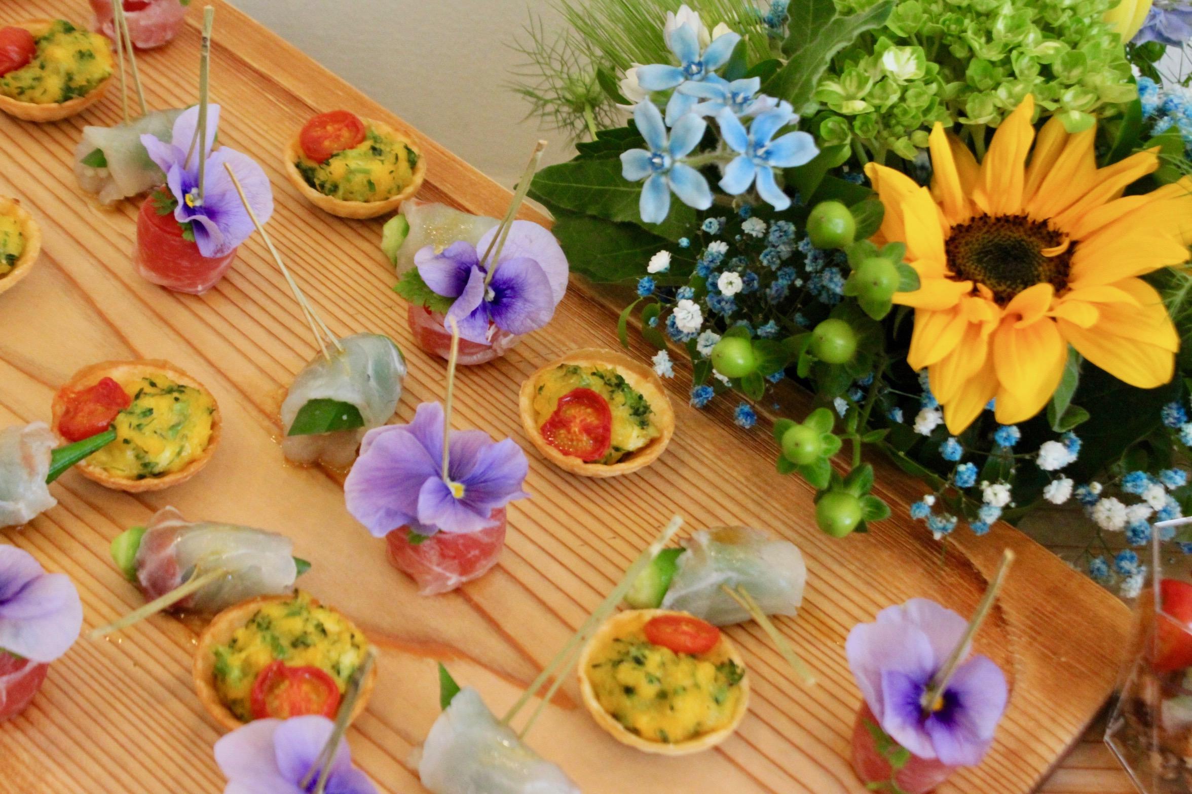 生花でのテーブルコーディネート