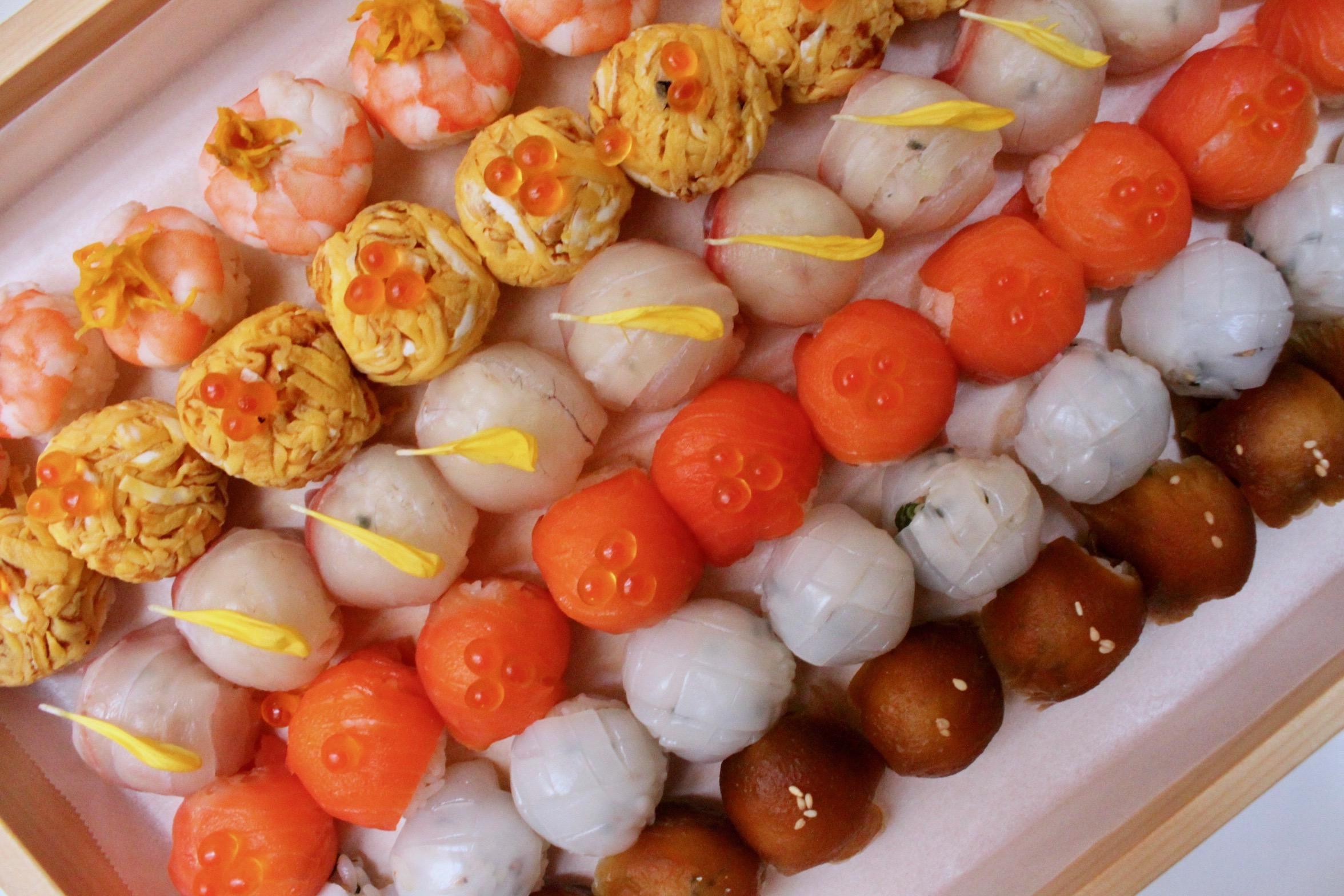彩り手毬寿司